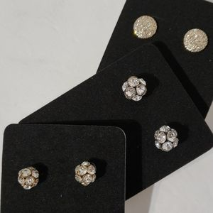 Rhinestone Studs Set of 3❣
